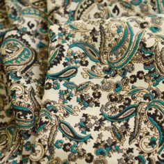 Visit our New and Re-stocked section to browse the new dress and craft fabrics which have come into stock. Find your perfect fabric today. Paisley Dress, Paisley Print, 1950s Fashion Dresses, Vintage Dress Patterns, Blouse And Skirt, Crepe Fabric, Crepe Dress, New Dress, Teal