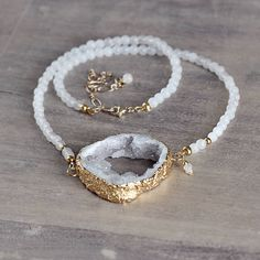 White-druzy-diamond-necklace