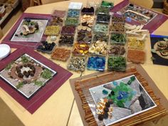 Reggio provocation. I like the way they used the pictures under plexi to inspire creations. It would be fun to do the way it's shown…or could you even draw on the plexi with markers
