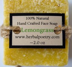 100% Natural Lemongrtass Face Soap by PoetryHerbal on Etsy