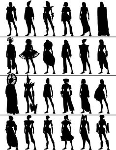 character silhouettes - Google Search