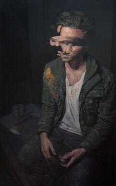 "redlipstickresurrected: "" Adam Lupton (Canadian, b. Vancouver, BC, Canada) - Analysis Paralysis, 2015 Paintings: Oil on Canvas "" Modern Art, Contemporary Art, L'art Du Portrait, Art Brut, A Level Art, Glitch Art, Surreal Art, Oeuvre D'art, Figurative Art"