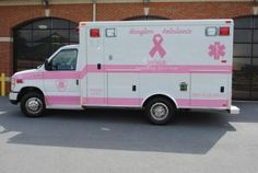 Breast Cancer Ambulance goes pink Im A Survivor, Breast Cancer Survivor, Breast Cancer Awareness, Go Pink, Pink Power, Breast Cancer Support, Ambulance, Pink Cars, Cancer Quotes