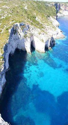 "Zante's ""Blue Caves"", Zakynthos Island (Ionian), Greece"