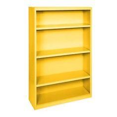 "Sandusky Elite Series Standard Bookcase Size: 60"" H x 34"" W  x  12"" D, Finish: Yellow"