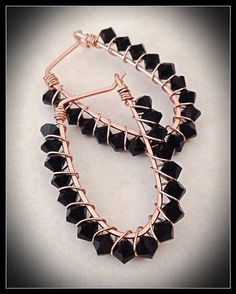 Handmade 14k pink goldfilled ushaped hoops wire by meredithterry, $27.00