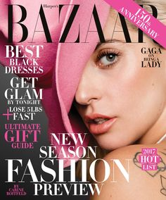 Lady Gaga on Harper's Bazaar December-January 2016.2017 Cover