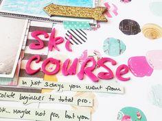 Scrapbooking Process- Hip Kit Club February Kit