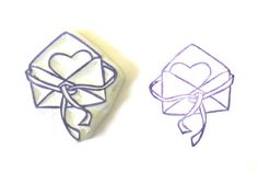 Sending Some Love Hand Carved Rubber Stamp by SweetSpotStampShop, $7.99
