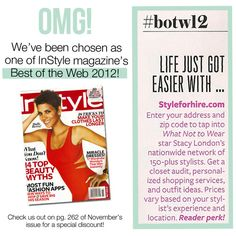Wowza…We're beyond excited and thrilled and honored! Thank you InStyle!