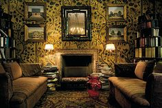 The room above has decoration that suggests leatherwork of Cordoba, interior Design and Architecture by Studio Peregalli, by Laura Sartori Rimini and Roberto Peregalli Cosy Room, Interior Decorating, Interior Design, My Dream Home, Design Firms, Living Room Designs, Logs, Sweet Home, New Homes