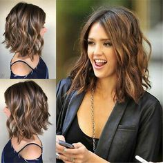 Hot Lace Front Wig Synthetic Sexy Short Wavy Hair Brown MixHeat Resistant Hair for sale online Hot Mixed Color Bob Wavy Hair Wig 12 Inches Front Hair Styles, Medium Hair Styles, Curly Hair Styles, Hair Front, Long Bob Hairstyles, Wig Hairstyles, Jessica Alba Hairstyles, Hairstyle Ideas, Bangs Hairstyle
