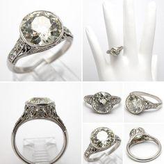 Art Deco Engagement Rings Sapphire Accents 37