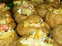 Salad in choux pastry