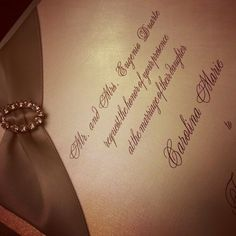 Beautiful Wedding Invitation with Ribbon and Buckle