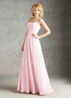 Bridesmaid Dresses - $118.07 - A-Line/Princess Strapless Sweetheart Floor-Length Chiffon Bridesmaid Dress With Ruffle (0075057457)
