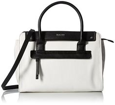 Kenneth Cole Reaction Tab Over Satchel ChalkBlack *** Be sure to check out this awesome product.Note:It is affiliate link to Amazon.