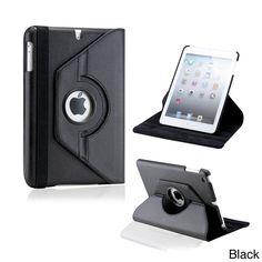 Gearonic 360-degree Rotating PU Leather Case Smart Cover Swivel Stand for iPad Mini/ Mini Retina/ Mini 3 Case #5231PUIB