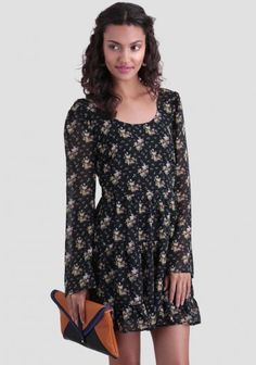 Midnight Wonder Floral Dress | Modern Vintage Dresses | Modern Vintage Clothing