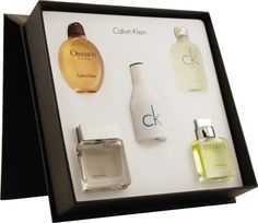 Variety by Calvin Klein for Men, Mini Set (Obsession, Eternity, Euphoria, Ck One, Ck In2U, Each  0.5 Ounce)