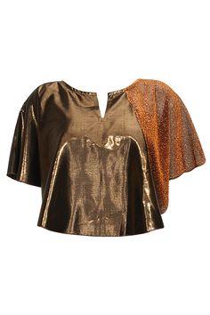 Gold and bronze calgary top by Bungalow 8. Shop at: www.perniaspopups.... #top #chic #fashion #bunglow8 #shopnow #perniaspopupshop #happyshopping