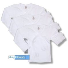 3-Pack of Side Snap Long Sleeve T-Shirts by Daydreamers - White - Small DAYDREAMERS. $13.95