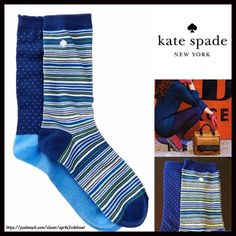 2 Pairs of Kate Spade Trouser Boot Socks  NEW WITH TAGS    2 Pairs of Kate Spade Trouser Boot Socks   * Super soft & comfortable fabric   * Opaque Knit construction (not sheer).   * Stretch-to-fit   * One size fits most; Pull on & to the mid calf style   ****The Kate Spade socks on the model in the cover photo are for styling purposes only & to show length. ***   Fabric: 63% Cotton, 35% Polyester & 2% spandex; Machine wash  Color: Blue Multi combo   No Trades ✅Bundle Discounts✅ kate spade…