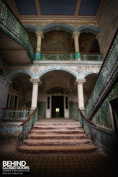 Beelitz Heilstätten Male Pavilion - Staircase