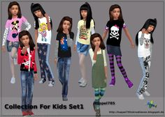 Hoppel785`s Kreationen: Sims 4 Collection For Kids Set1 by Hoppel785