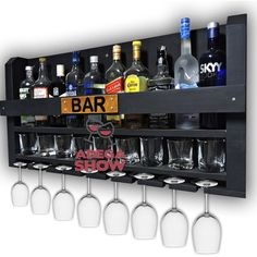 Diy Home Bar, Diy Bar, Bars For Home, Wine Rack Design, Pub Design, Jerry Can Mini Bar, Bar Cart Styling, Home Bar Designs, Bar Shelves