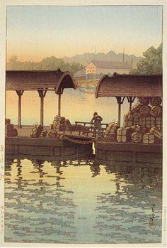 hanga gallery . . . torii gallery: Onomichi in the Morning, Hiroshima by Kawase Hasui