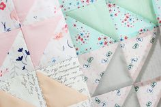 Doll Quilt...fabric is Paperie by Amy Simbaldi @nanacompany
