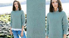 Indémodable, ce pull classique tricoté au point de riz, point jersey et côtes 2/1plairaà tout le monde. Tailles: 38 /40 (42 / 44 ) 46 Le matériel Fil à tricoter qualité Rico Fashion ...