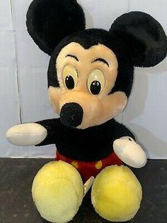 Mickey Mouse Doll, Disney Stuffed Animals, Retro Toys, Walt Disney World, Disneyland, Retro Vintage, Barbie, Plush, Dolls
