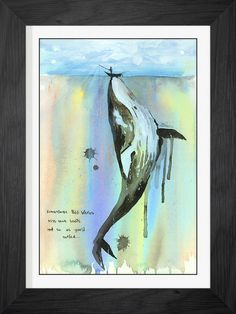 Whalelala by Lora Zombie - Available exclusively at Eyes On Walls - http://www.eyesonwalls.com/collections/framed-print-collection?utm_source=pinterest&utm_medium=ads&utm_content=Whalelala%20FPM&utm_campaign=Art%20Prints%20Generic