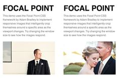 Focal point CSS framework and responsive images.