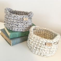 Just launched these adorable crocheted bowls, available in 15 colors!!