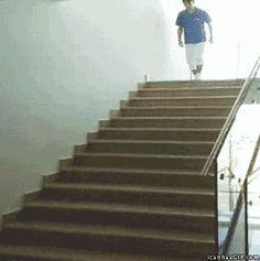 Coming down the stairs… Cool!!!