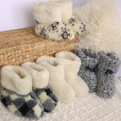 Crafted from a blend of top grade wool  These beautifully designed snug boots slippers have a wool sock liner   Lightweight, super comfortable and naturally clever -keep your feet warm in winter and cool in summer