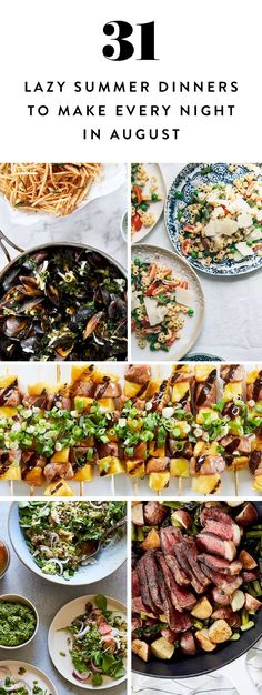 31 easy summer dinner ideas to make every night in august