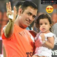 Daddy's little princess Ziva Dhoni, Ms Dhoni Photos, Dhoni Wallpapers, Daddys Little Princess, World Cricket, Chennai Super Kings, Latest Cricket News, Real Hero, Mahi Mahi