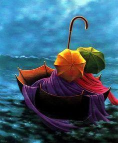 Les Parapluies, by Claude Théberge