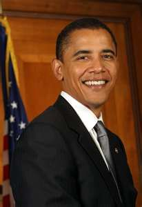 President Barak Obama. His term began in 2009 and still ongoing (this 2013), to my appointment. I will never consider this man my president.