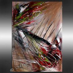 Große Original abstrakte Kunst Malerei Brown von largeartwork