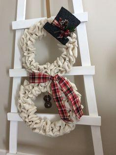 Christmas Wreath Snowman Wreath  Front by WreathsByStacyHarrop