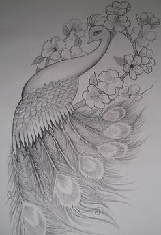 Love this peacock tattoo if you add some color. Girly Peacock Tattoo Design by on deviantART