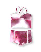 Striped Two-Piece Swimsuit