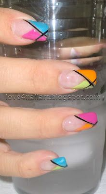 Colorblock Nail Design ~ Love4NailArt  http://love4nailart.blogspot.com/2012/06/colorblock-nail-design.html