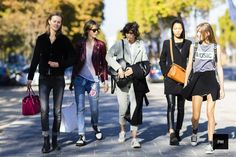 Julie Hoomans, Edie Campbell, Mica Arganaraz, Lineisy Monteiro and Vera Van Erp – Paris