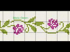 Cross Stitch Bookmarks, Cross Stitch Borders, Cross Stitch Rose, Cross Stitch Flowers, Cross Stitch Designs, Cross Stitching, Diy Embroidery Patterns, Cross Patterns, Loom Patterns